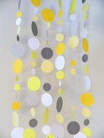 beige shower curtain - Yellow and Gray Baby Shower Decorations Gray and Yellow Wedding decor Birthday garland Photo Backdrop Paper Curtain
