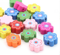 Wholesale DoreenBeads Hot Wood Spacer Beads Flower Mixed At Random Flower Pattern About x15 mm Hole Approx mm new
