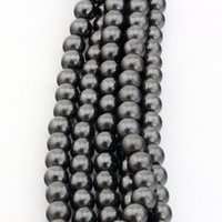 Round magnetic beads - Hot Black Magnetic Hematite Round Beads MM For Beaded bracelet DIY Jewelry
