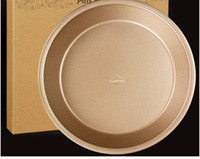 Wholesale 9 Inch Gold Pizza Pan Non Stick Pizza Stones Stainless Iron Round Pizza Disc