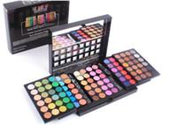 big makeup cases - color D eyeshadow palette professional waterproof pearl matte ultralight big makeup cosmetic set kit case box