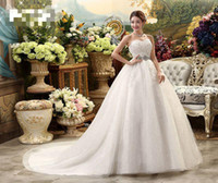 Wholesale 2016 New High Waist Maternity Wedding Dress For Pregnant Women Long Trailing Nuptial Dress Korean Style Brides Dresses