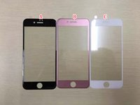 Wholesale 3D Curved Full Coverage Tempered Glass For Iphone I7 Iphone7 Plus Rose Gold Color Screen Protector Guard Clear Film Skin Package