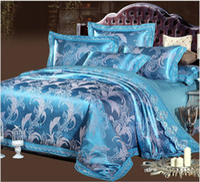 Wholesale European style bedding sets health cotton flower bed linen duvet cover flat sheet pillowcases king queen size free ship