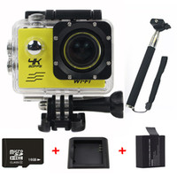 bicycle helmet cams - Ultra HD K FPS WIFI Sport Action camera inch Degree angle Lens Bicycle Helmet Cam Gopro Style Go pro hero Camera