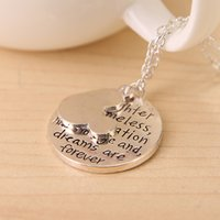 age d - Mickey Ear Sets Pendants Necklace quot Laughter is Timeless Imagination Has No Age And Dreams Are Forever quot Letters Pendants Necklace