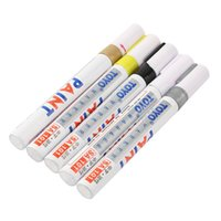 Wholesale New Universal White Car Motorcycle Whatproof Permanent Tyre Tire Tread Rubber Paint Marker Pen colors hot selling