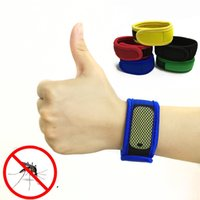 Wholesale 9 Colors Prevention Mosquito Repellent Bracelet Band with Free Refills Mosquito Killer Natural Plant Compound Essential Oils