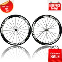 Wholesale Full carbon road wheels mm clincher carbon fiber road bicycle wheelset c mm width