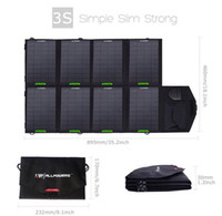 Wholesale Outdoor portable solar battery charging treasure V W Foldable Solar Laptop widely use phone Ipad