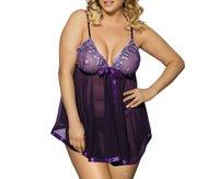 Wholesale KS Women s Sexy Lingerie babydoll Underwear Sleepwear Undergown Lingerie Lace Babydoll Sleepwear Lace embroidery Splicing Chemises