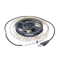 Wholesale IP65 Waterproof USB Cable SMD5050 RGB LED Strip Light Lamp DC V leds strip tape lamp