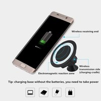 achat en gros de support de voiture qi-2016 Chargeur Qi Wireless Dock Magnetic Holder 360 Rotating Car Mount Charge Pad Pour Samsung Galaxy S7 / S7 S6 Bord / Plus / Note 5