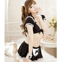 babydoll costumes halloween - Sexy lingerie Hot French Maid Halloween Costume Babydoll Cosplay Dress Outfit lb