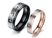 Wholesale Korean Fashion Stainless Steel Wedding Bands Romantic Love Token Hot Selling Fashion Women Men Jewelry Piece Price Lovers Rings