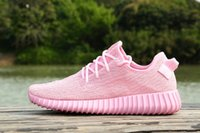 Wholesale With Original Box Kanye Milan West Boost Pink Running Shoes Men Fashion Shoes Women Sport Trainers Shoes size