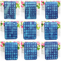 Wholesale Nail art template Designs cm DIY Manicure Tools Nail Art Stencils Stamping Template Free DHL UPS Fedex