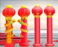Wholesale Singular red dragon lantern inflatable arch opening wedding Inflatable factory direct activities