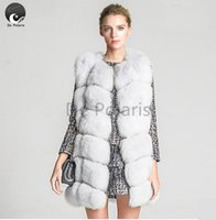 Wholesale Fox Fur Vest Women New Winter Vest Genuine Leather Fox Fur Vests Woman Fur Coat Jacket Female Ladies Fur Coats De Polaris