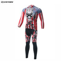 Wholesale Flash Sale XINTOWN UV Resistant Long Sleeves Skull King Cycling Jerseys Set Mtb Bike Clothes Shirt Long Pants Breathable Bib Racing Suits