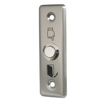 Wholesale 10pcs Small Stainless Steel Exit Push Release Button V For Door Switch Access Control F1658D