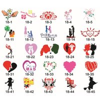 adhesive backed stencils - 80 Festival Designs Self Adhesive Body Art Temporary Tattoo Airbrush Stencils Template Books of Butterfly and Animals Booklet