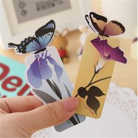 Wholesale The popularity of Korean stationery lovely butterfly bookmarks exquisite gift paper bookmark bookmark animal