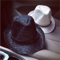 Wholesale 2016 New spring and summer sun hat female fashion wild sequined thong knit hat small hat England