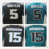 Wholesale Best quality jersey Men s Allen Robinson Blake Bortles elite jerseys Stitched jersey Black and Green Size