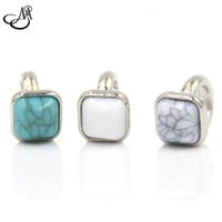 authentic turquoise jewelry - 30pcs Authentic Endless Jewelry Charm Mix Color Square Turquoise Endless Silver NEW Arrival MIJ078