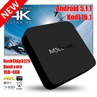 HD 1080p - Smart Rockchip RK3229 MXQ K TV Box Android5 KODI Fully Loaded H K tps P HD Media Player Android TV Boxes Remoted MXQ k