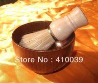 Wholesale 2014 NEW High Quality set wooden handle Shave Shaving Brush Shaving wood bowl