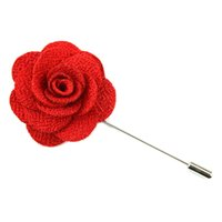 Wholesale lily Lapel Flower camellia Handmade Boutonniere Brooch Pin Men s Accessories in colors