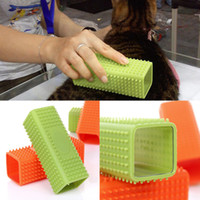 Wholesale Dog Cleaning Grooming COMBS Clean up products Pet Dog Puppy Cat Bath Brush Comb Depilation Soft Silicone Sticky Hair Tool Worldwide Store