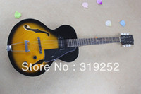 basswood blocks - New mahogany Body maple front and back Block Reissue Sunset yellow Jazz Electric Guitar with Bigbys