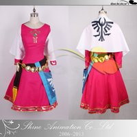 Wholesale Hot Sale Tailored The Legend of Zelda Princess Cosplay Costume kg pc