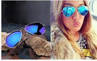 Plein Lunettes de soleil en miroir bleu teinte foncée cadre d'argent prix de gros bonne qualité best selling vraiment sympa