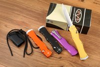 aluminum processing - Marfione custom Microtech halo prototype for rev II D2 blade material t6 S N mirror aluminum processing camping knife survival tool Ou