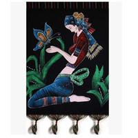 Wholesale 1pcs Tapestries home decorationBatik heavy colors hanging cloth hanging paintings ethnic handmade cloth painting wall paintings