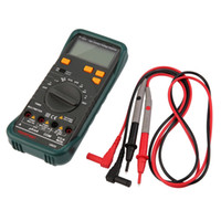 Wholesale Brand New High Quality Digital Multimeter AC DC Voltage Frequency Tester Detect Continuity Black Hot