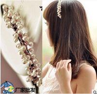 Wholesale Korean Fashion Girls hair accessories New Pearl Adult hair bands sweet balls bud pearl Woman Hair Bows H199