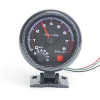 auto parts tachometer - 3 inch White backlight cylinder gasoline RPM car Racing Refit Tachometer Auto gauge Auto parts