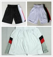 Wholesale Hot Sale Basketball Shorts Black White Embroidery Rev Running Shorts Sports Shorts Damian Lillard Clyde Drexler