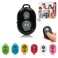 Wholesale Wireless selfie control bluetooth Self Timer Remote Control Self pole Shutter Camera Remotes Shutter Releases For iPhone Android Smartphone
