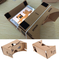 Wholesale Google Cardboard D Glasses DIY Mobile Phone Virtual Reality D Glasses Unofficial Cardboard Google Cardboard VR Toolkit D Glasses WX G10