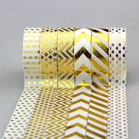 Wholesale NEW X mm m Tape Gold Foil Printing For Christmas And Halloween Set DIY Sticky Deco Masking Japanese Washi Tape Paper