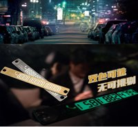 Wholesale Car Temporary Telephone Number Parking Card cm Silver Gold Notification Night Luminous Sucker Plate Phone Number Card