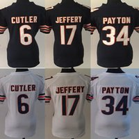 Wholesale Women s Jersey Jay Cutler Alshon Jeffery Walter Payton Football Jerseys Stitched Name and Logo Free Drop Shipping