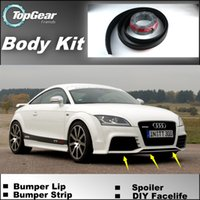 audi tt tuning - Bumper Lip Lips For Audi TT TTS Front Skirt Deflector Spoiler For Car Tuning The Stig Recommend Body Kit Strip