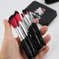 Wholesale Hello Kitty Hot Set Professional Makeup Brush beauty Brush Cosmetic Make up brushesTool